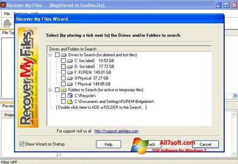 Screenshot Recover My Files Windows 7