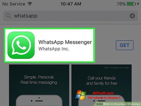 Screenshot WhatsApp Windows 7