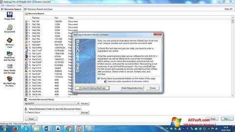 Screenshot BadCopy Pro Windows 7
