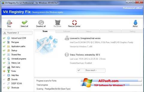 Screenshot Vit Registry Fix Windows 7