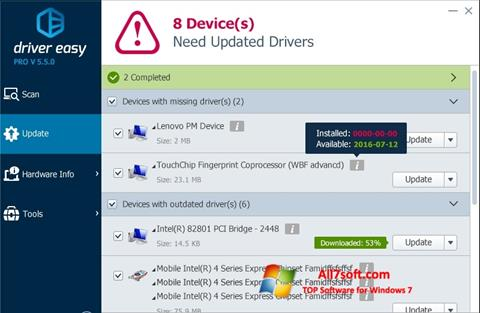 Screenshot Driver Easy Windows 7