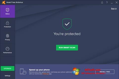 Screenshot Avast Free Antivirus Windows 7