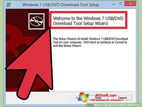 Screenshot Windows 7 USB DVD Download Tool Windows 7