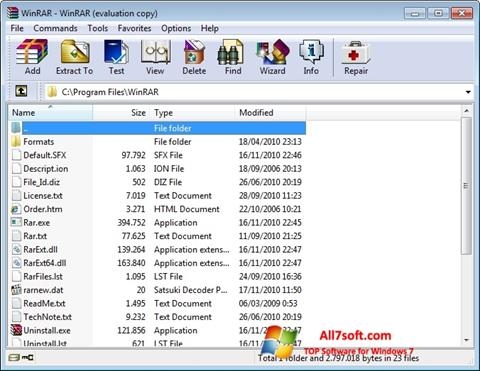 Screenshot WinRAR Windows 7
