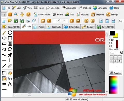 Screenshot PDF Reader Windows 7