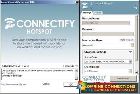 Screenshot Connectify Windows 7
