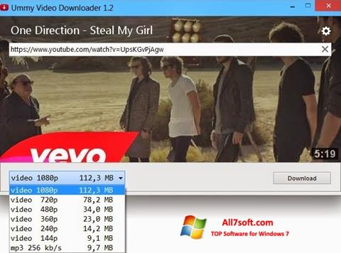 Screenshot Ummy Video Downloader Windows 7