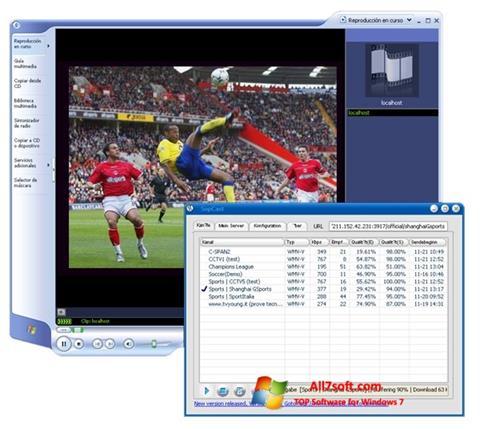 Screenshot SopCast Windows 7