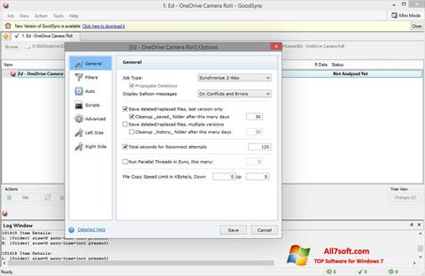 Screenshot GoodSync Windows 7