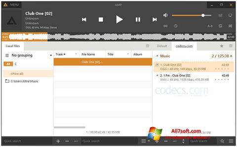 Screenshot AIMP Windows 7