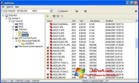 Screenshot IsoBuster Windows 7
